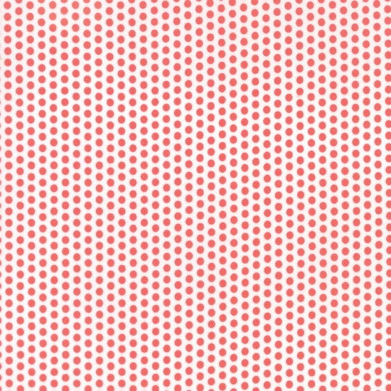 Sundrops - Dark Coral White Dotted