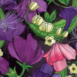 Sweet Pea and Lily - Main Floral Stormy