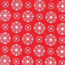 Vintage Holidays - Red Snowflake