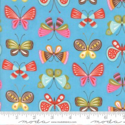 Wing and Leaf - Flutter Periwinkle - 1 Cut FQ