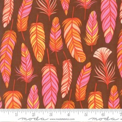 Wing and Leaf - Floral Feathers Chestnut
