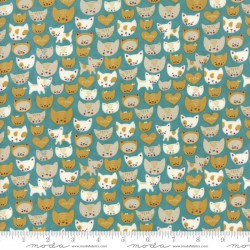 Woof Woof Meow - Here Kitty Kitty Turquoise