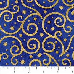 Angels Above - Blue Gold Swirl