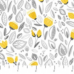 Sew Sweet - Yellow Flowers on White
