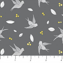 Sew Sweet - Birds on Grey