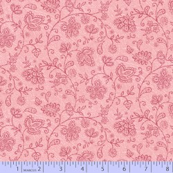 Soulful Shades - Floral Vine on Pink