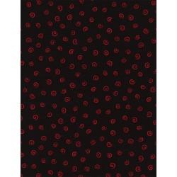 Knitting - Red Black Swirl
