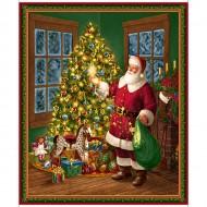 Santa and Christmas Tree Panel