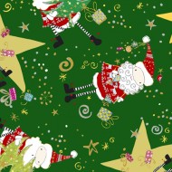 Happy Christmas - Santa and Star Toss Forest
