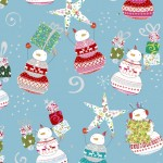 Happy Christmas - Snowman Toss Blue - PRE-ORDER DUE JUNE