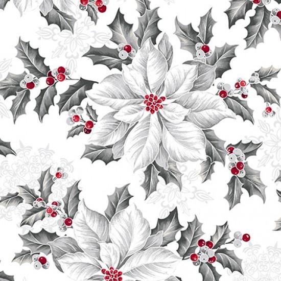 Pretty Poinsettias - Large Poinsettias White
