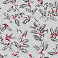 Pretty Poinsettias - Holly Vine Grey