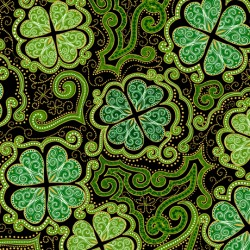 Lucky Clovers - Decorative Clovers Black