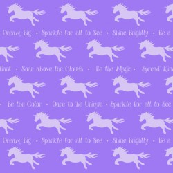 Party Like A Unicorn - Unicorn Silhouettes Dark Lilac
