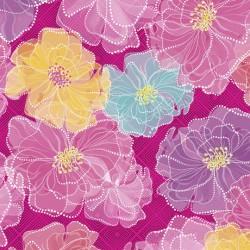 Rachel - Dotted Floral Fuchsia