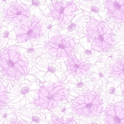 Rachel - Sketched Floral Light Plum
