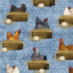Sunrise Farm - Hens Nesting Cambray - PRE ORDER DUE OCTOBER