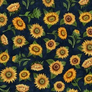 Sunrise Farm - Sunflower Toss Midnight - PRE ORDER DUE OCTOBER