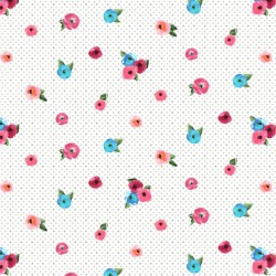 Sweet Caroline - Small Floral With Dots