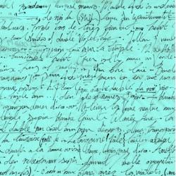 Sweet Caroline - Calligraphy Turquoise