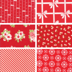 Bonnie and Camille - Fat Quarter Bundle Red