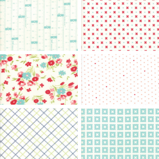 Bonnie and Camille - Fat Quarter Bundle White