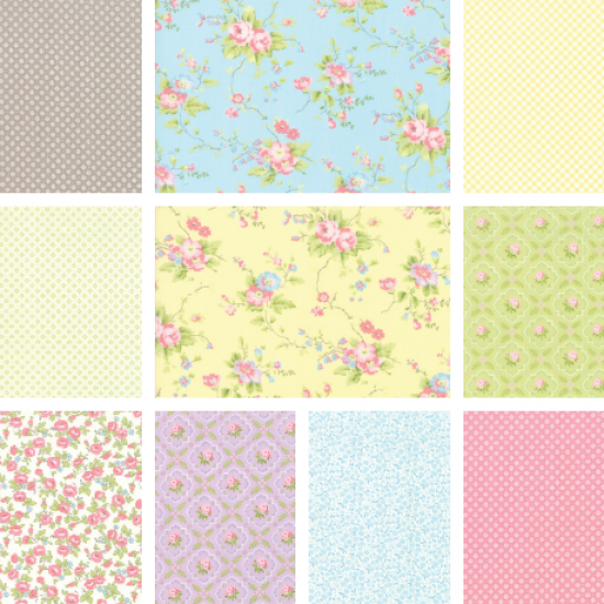 Finnegan - Fat Quarter Bundle 1 - 10 FQs, 1 FQ Free!