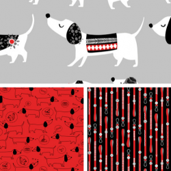 Hot Diggity Dog - Fat Quarter Bundle - PRE ORDER DUE DECEMBER