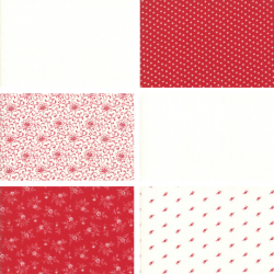 My Redwork Garden - Fat Quarter Bundle 1
