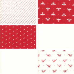 My Redwork Garden - Fat Quarter Bundle 2
