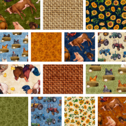 Sunrise Farm - Fat Quarter Bundle 3 - 14 Fat Quarters - 1 FQ Free!