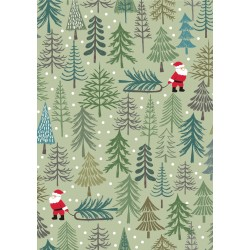 Christmas Trees - Santa's Tree On Pale Green - PRE ORDER DUE JUNE