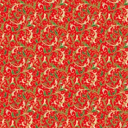 Classic Foliage - Decorative Scroll Red - PRE-ORDER DUE MAY