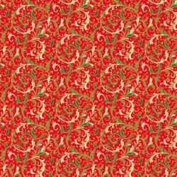 Classic Foliage - Decorative Scroll Red