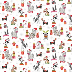 Yappy Christmas - Dog Scatter White - PRE-ORDER DUE MAY