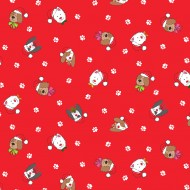 Yappy Christmas - Dogs Heads Red - PRE-ORDER DUE MAY