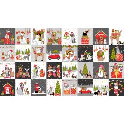 Yappy Christmas - Blocks Panel - PRE-ORDER DUE MAY