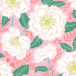 Flora and Fauna - Camellias Pink - PRE-ORDER DUE FEBRUARY