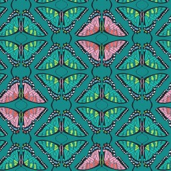 Flora and Fauna - Swallowtail Teal - PRE-ORDER DUE FEBRUARY