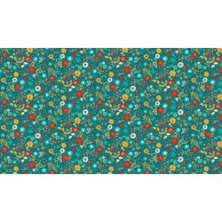 Folk Friends - Floral Teal