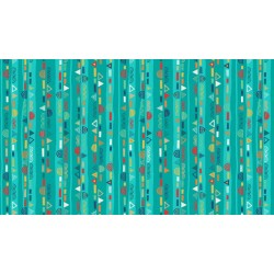 Folk Friends - Scallop Stripe Teal - PRE-ORDER DUE SEPTEMBER