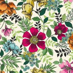 Jewel Tones - Floral Cream - PRE-ORDER DUE OCTOBER