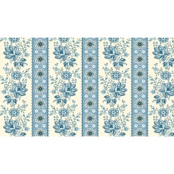 Perfect Union - Floral Stripe Bluebell