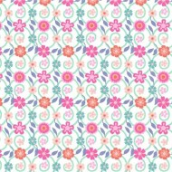 Bungalow - Floral Trellis White - PRE-ORDER DUE FEBRUARY/MARCH