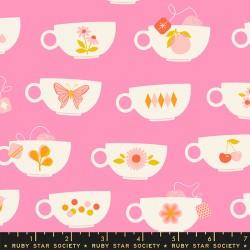 Ruby Star Society - Camellia - Tea Cups Flamingo - PRE-ORDER DUE DECEMBER