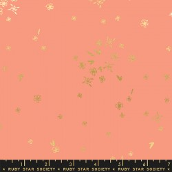 Ruby Star Society - First Light - Tiny Flowers Melon - PRE-ORDER DUE AUGUST