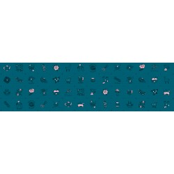 Ruby Star Society - Purl - Charms Teal - PRE-ORDER DUE APRIL