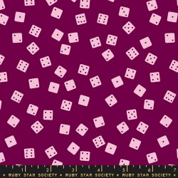 Ruby Star Society - Tarrytown - Farkle Dice Purple Velvet - PRE-ORDER DUE JUNE