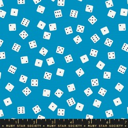 Ruby Star Society - Tarry Town - Farkle Dice Bright Blue - PRE-ORDER DUE JUNE