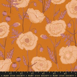 Ruby Star Society - Unruly Nature - Icelandic Poppies Caramel - PRE-ORDER DUE NOVEMBER